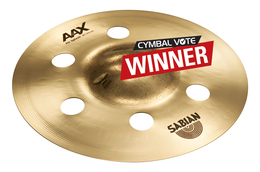 Sabian AAX Air Splash Cymbal Brilliant Finish