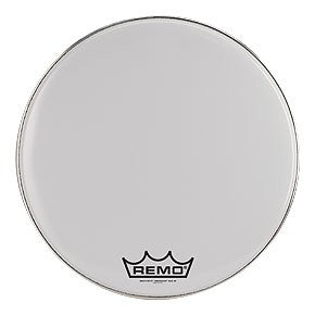 "Remo 14"" Smooth White Crimplock Emperor Marching Bass Drum Head"