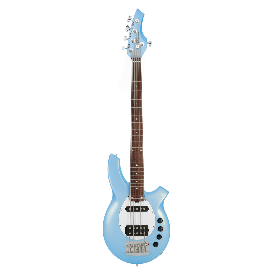 Music Man Bongo 5 5-String Electric Bass Guitar - Sky Blue