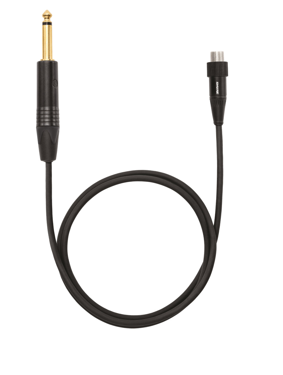 "Shure WA305 Premium 1/4""-to-TA4F Guitar Cable With Locking Thread For Select Shure Bodypack Transmitters"