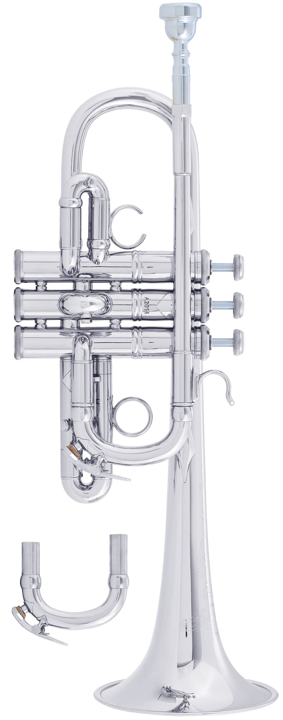 Bach AE190S Stradivarius Artisan E-Flat Trumpet Outfit, Silver Plated