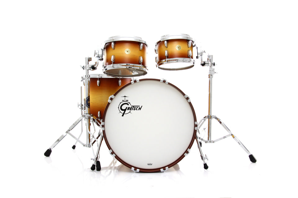 Gretsch USA Custom 4 Piece Drum Set Shell Pack - Satin Walnut Burst