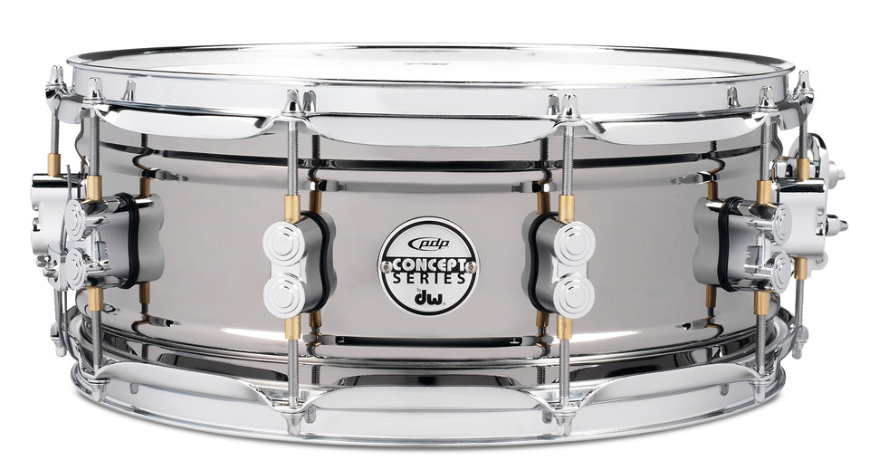 "PDP PDSN5514BNCR 14"" x 5.5"" Concept Series Snare Drum - Black Nickel Over Steel"