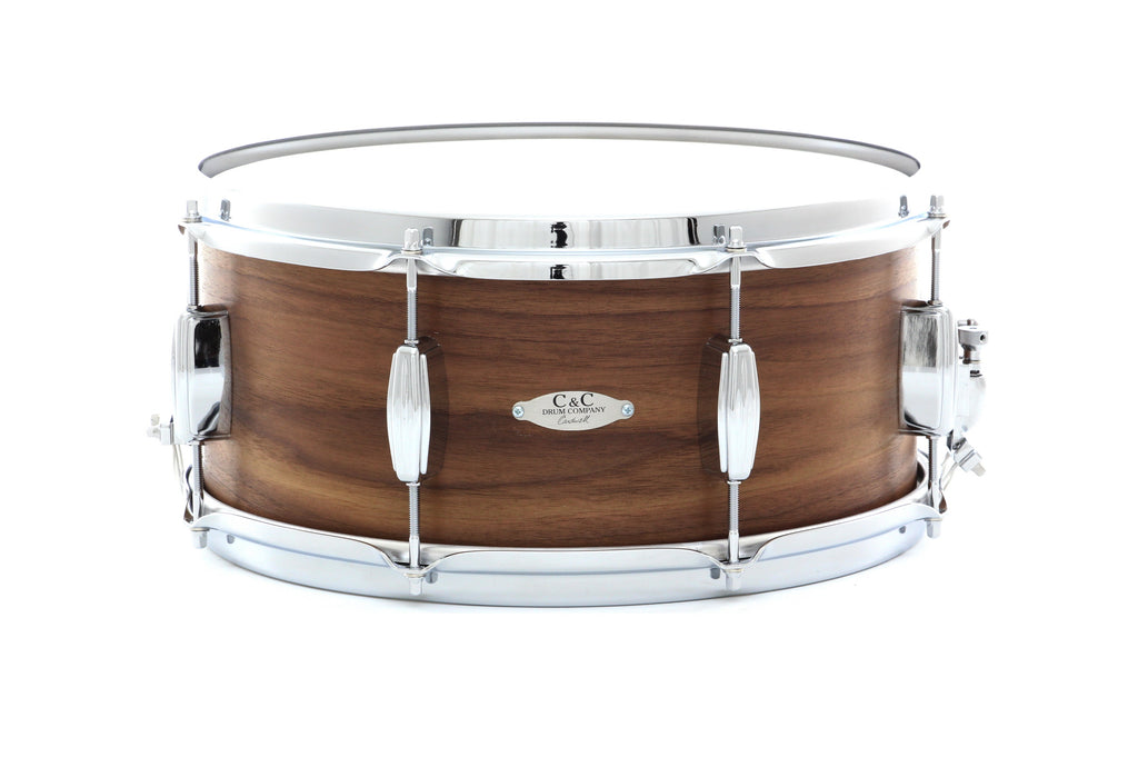 "C&C 14"" x 6.5"" 12th And Vine Walnut Snare Drum - Natural Stain"