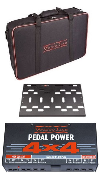 Voodoo Lab Dingbat Aluminium Pedalboard W/ Pedal Power 4x4 - Medium