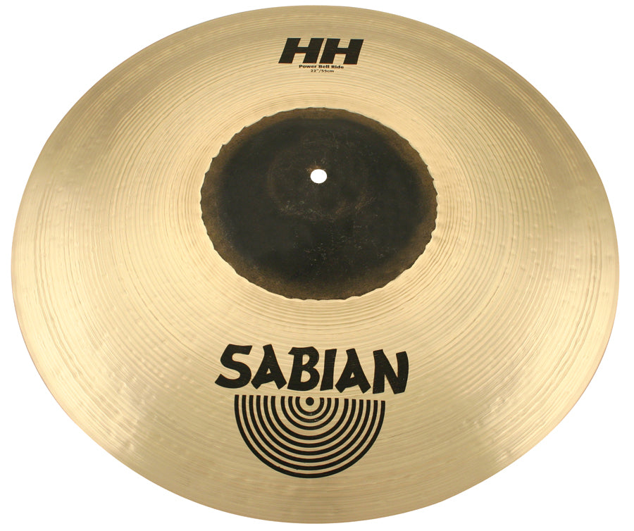 "Sabian 22"" HH Power Bell Ride Cymbal Brilliant Finish"