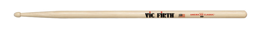 Vic Firth 8D American Classic Drumsticks Wood Tip Jazz