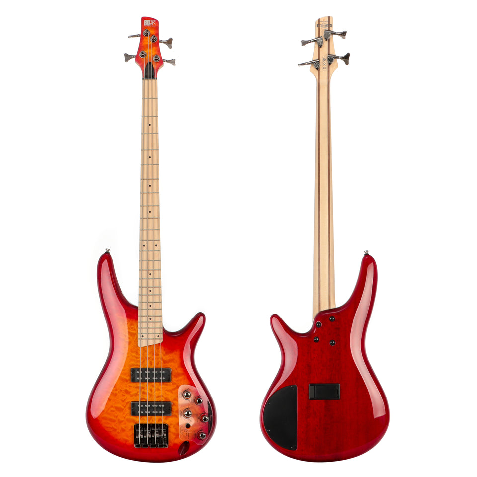 Ibanez SR400EMQM SR Standard 4 String Electric Bass - Sunset Red