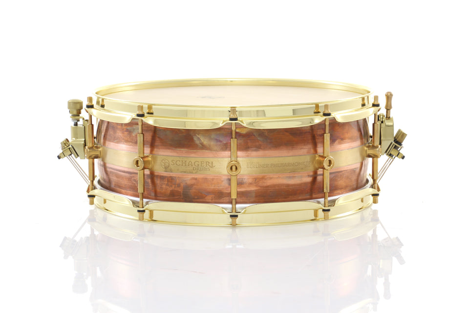 "Schagerl 14"" x 5"" Berlin Philharmonic Signature Snare Drum - Calf Head"