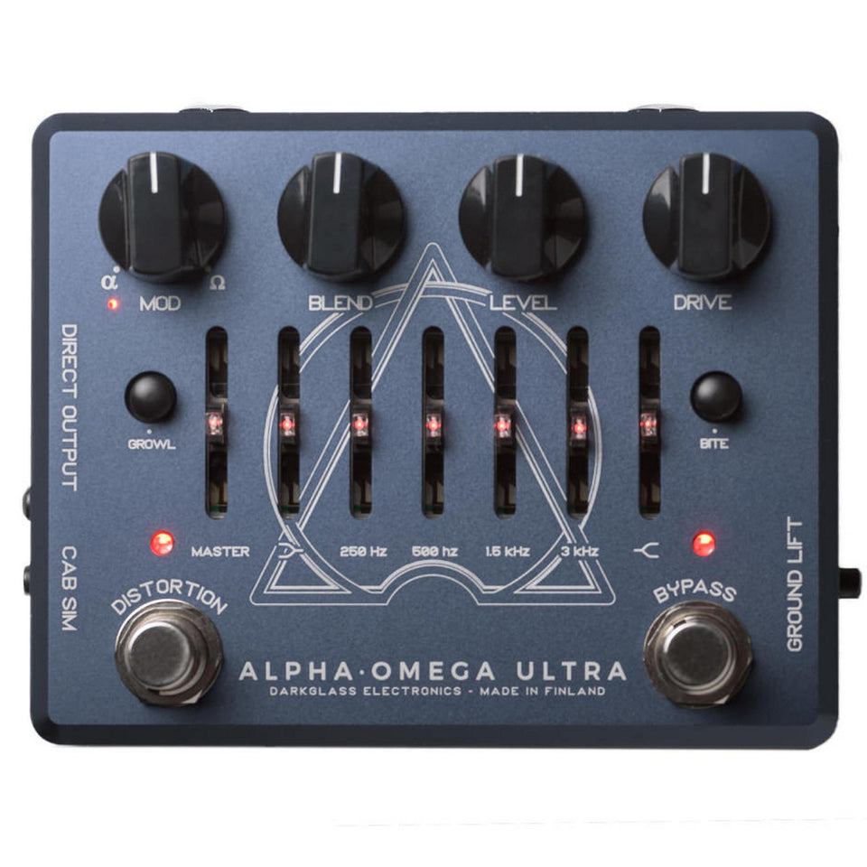 Darkglass Electronics AOU Alpha Omega Ultra Bass Preamp Overdrive Pedal