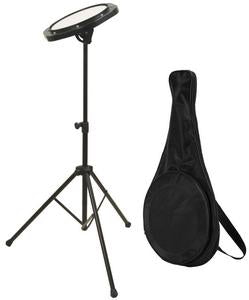 Drumfire Drum Practice Pad w/ Stand & Bag