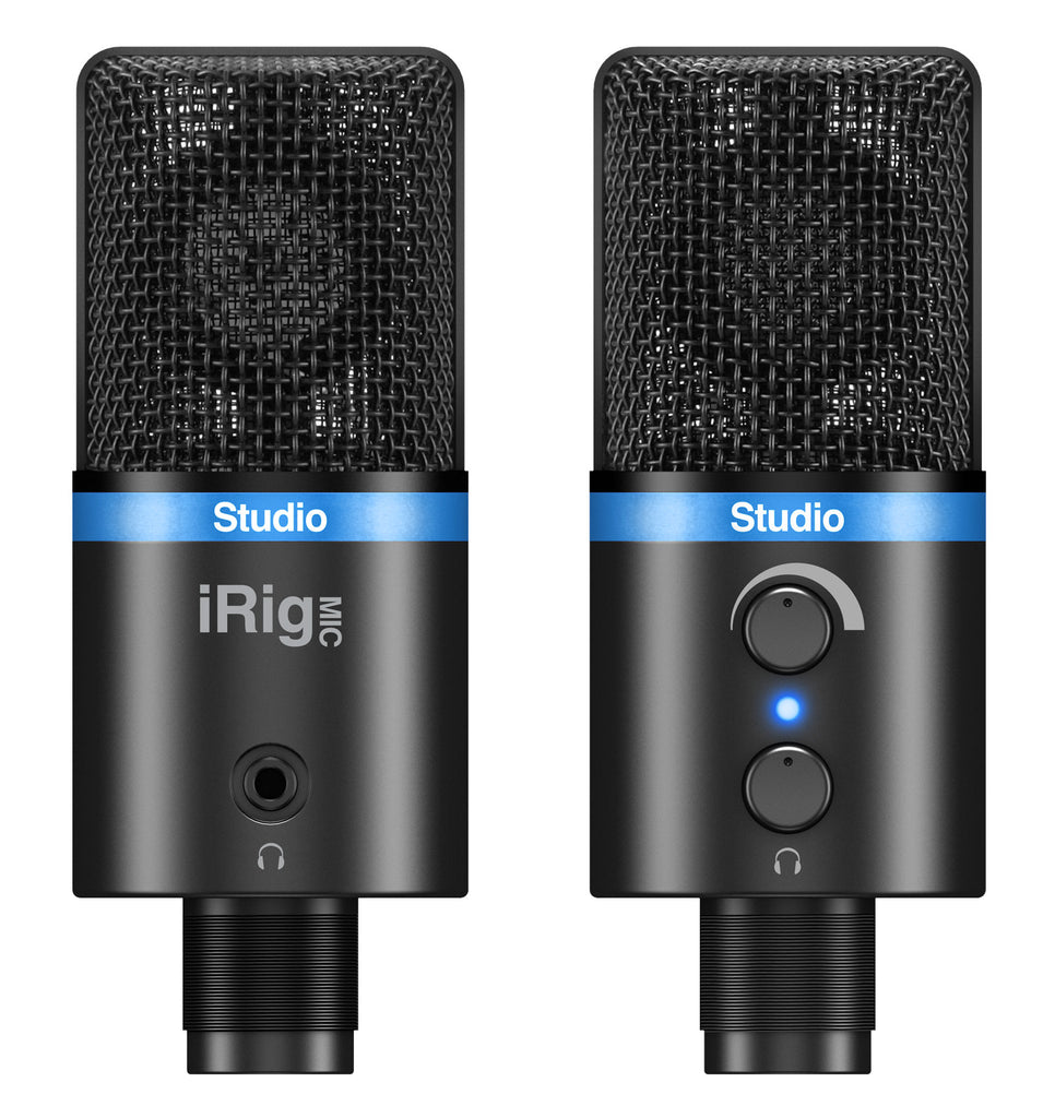 IK Multimedia iRig Mic Studio Portable Microphone for iOS - Black