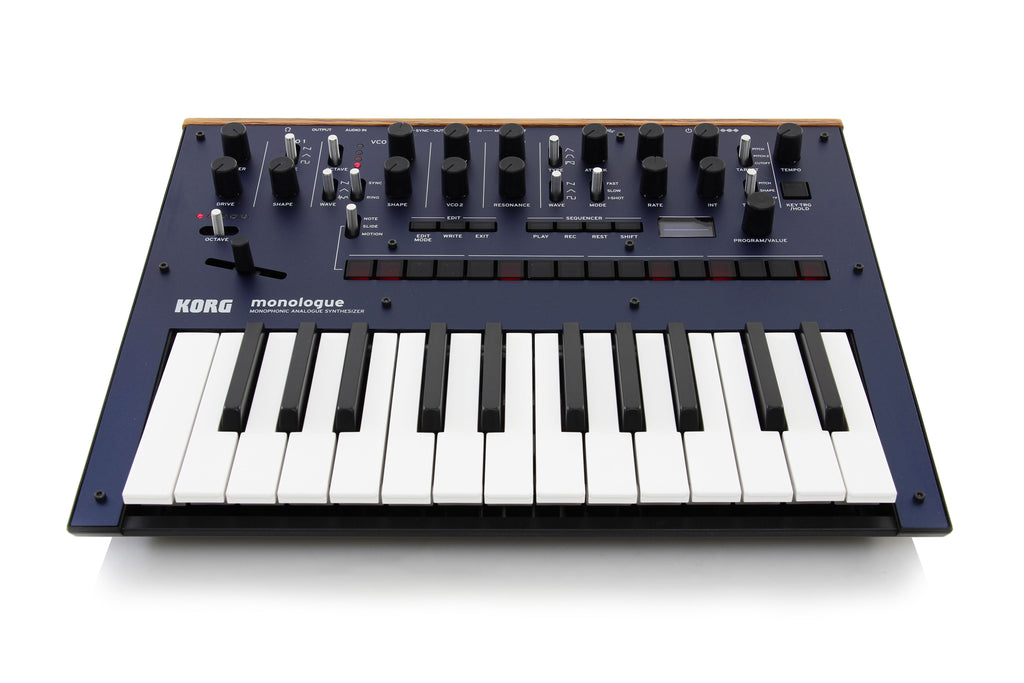 korg monologue monophonic analogue synthesizer blue chuck levin 39 s. Black Bedroom Furniture Sets. Home Design Ideas