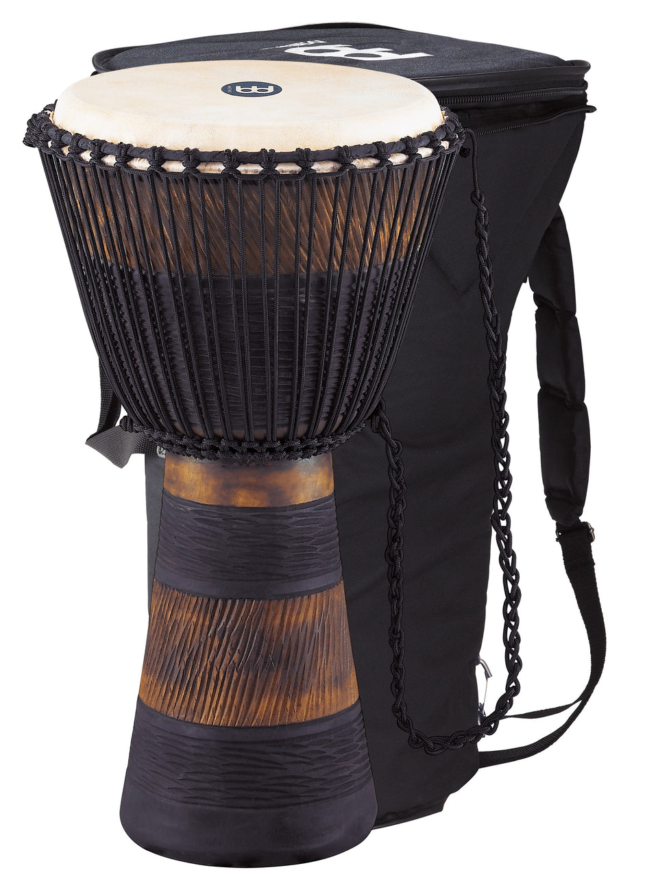 "Meinl ADJ3-XL BAG Original African Style Rope Tuned Wood Djembe 13"" + Bag"