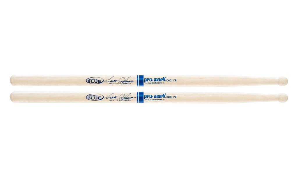 Promark TXDC17W Hickory DC17 Scott Johnson Wood Tip drumstick