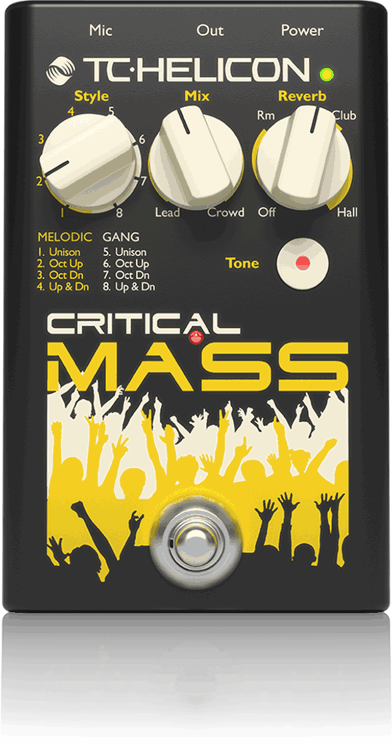 TC Helicon Critical Mass Studio-Quality Vocal Stompbox