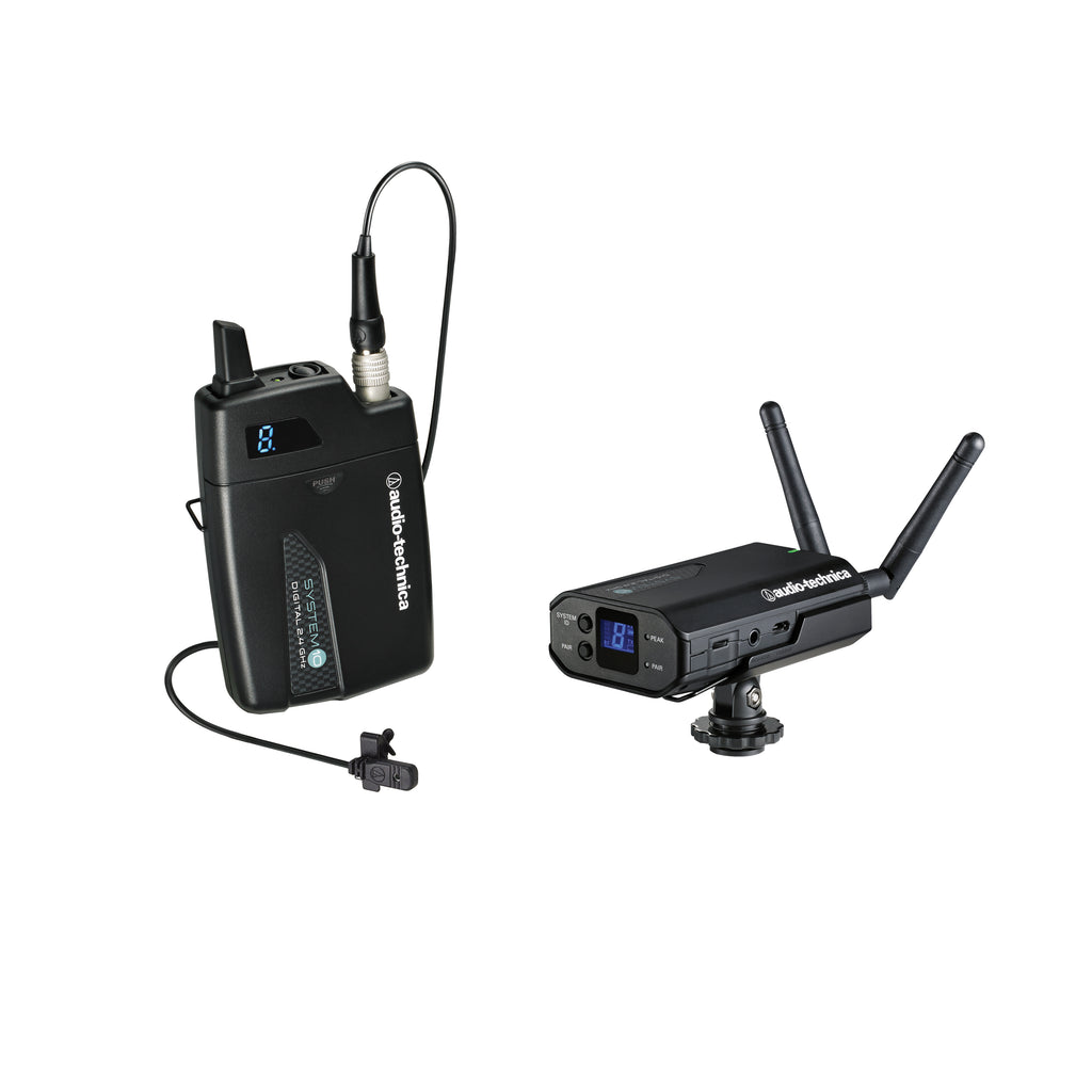 Audio-Technica ATW-1701/L Portable Camera-Mount 2.4 GHz Digital Wireless System - Lavalier
