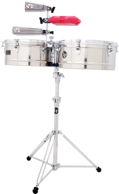 "LP LP1415-S Prestige 14"" And 15"" Timbales, Stainless Steel"