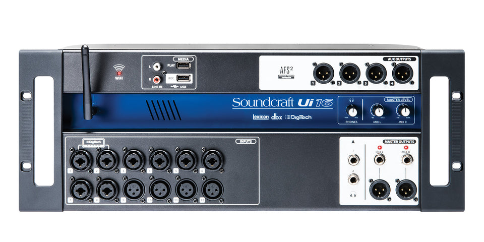 Soundcraft Ui16 Remote Controlled Rack Mount Digital Mixer