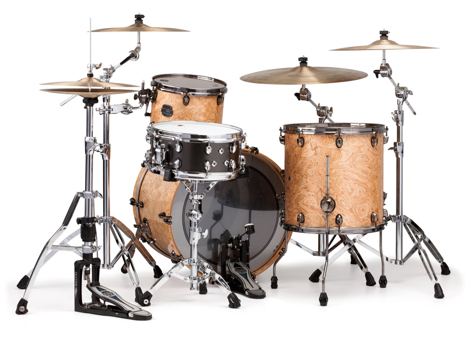 Mapex Saturn V MH Exotic Rock 3 Piece Drum Set Shell Pack - Natural Maple Burl