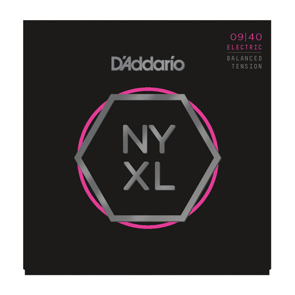 D'Addario NYXL0940BT Nickel Wound Electric Guitar Strings, Balanced Tension Super Light, 09-40