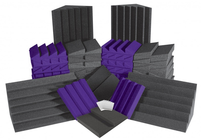 AURALEX ACOUSTICS ROOMADCHA/PUR Alpha DST Roominator Acoustic Treatment Kit - Purple
