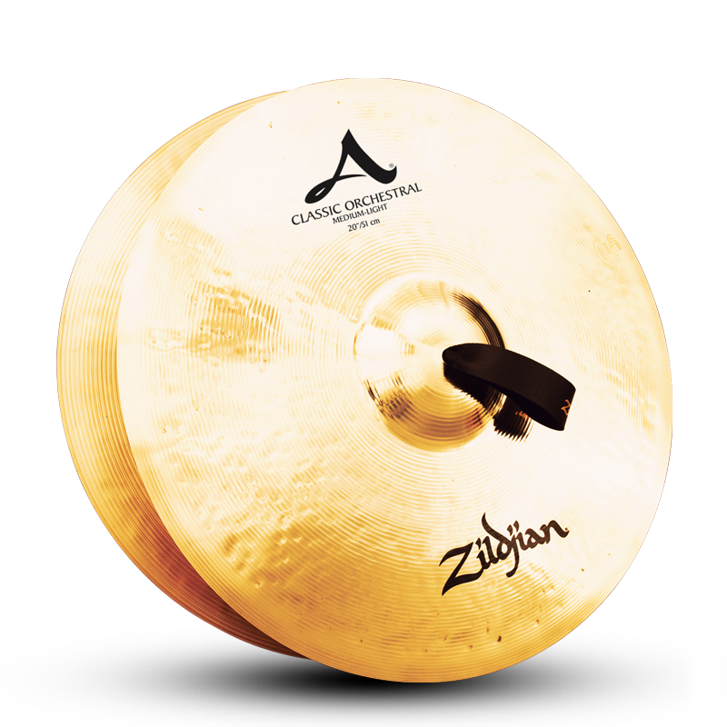 "Zildjian 22"" A Classic Orchestral Selection Medium Light Cymbals - Pair"