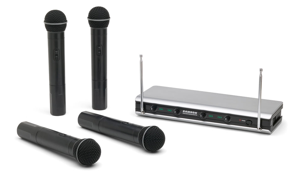Samson Stage v466 Quad Vocal Wireless System - A Band