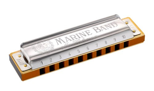 Hohner 364-D Marine Band 12-Hole Harmonica, Key of D