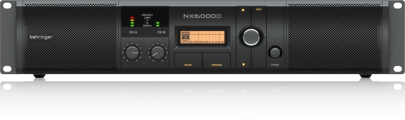 Behringer NX6000D Lightweight 6000-Watt Power Amplifier w/ DSP Control & SmartSense Loudspeaker Impedance Compensation