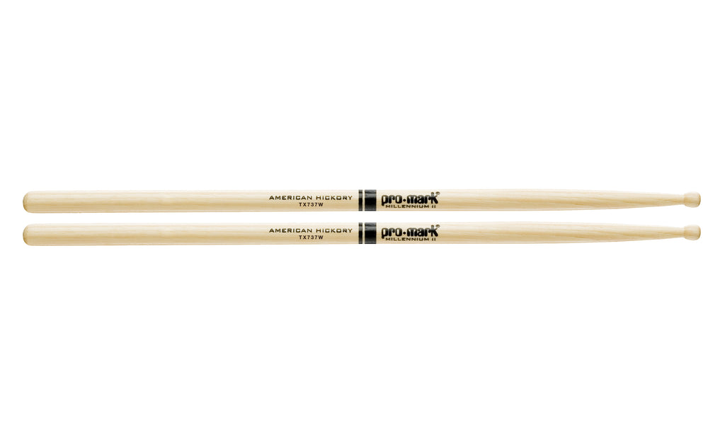 Promark TX737W Hickory 737 Wood Tip drumstick