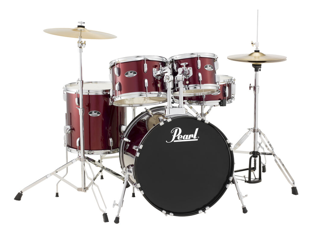 "Pearl Roadshow 5 Piece 22"" Kick Drum Set w/ Cymbals and Hardware"