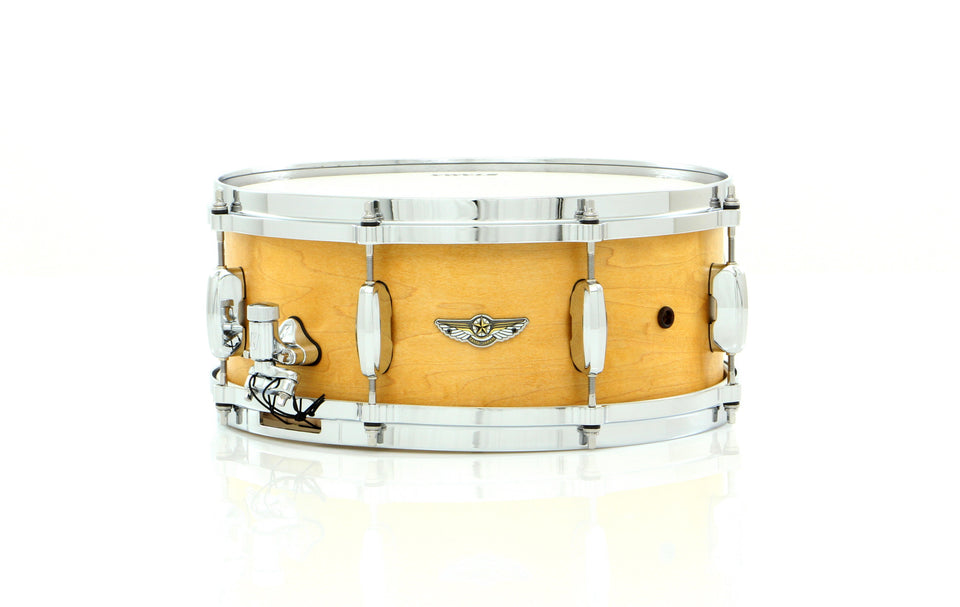 "Tama 14"" x 6"" STAR Solid Maple Snare Drum Oiled Natural Maple With Inlay"