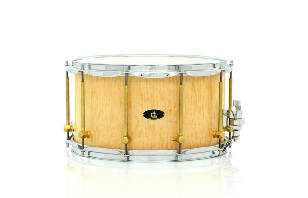 "RBH Drums 14"" x 8"" MONARCH Snare Drum With Curly Maple Outer Veneer"
