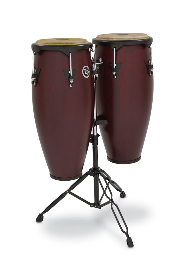 "LP LP646NY-DW City Wood Congas 10"" And 11"" Set, Dark Wood"