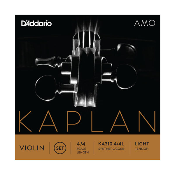 D'Addario Orchestral KA310 4/4L Kaplan Amo Violin String Set, 4/4 Scale, Light Tension