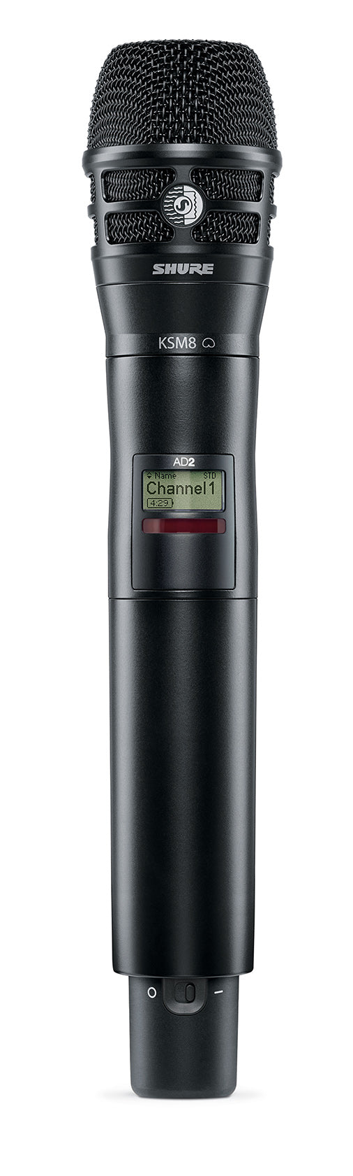 Shure AD2/K8B Axient Digital Handheld Transmitter W/ KSM8 Cartridge - Black