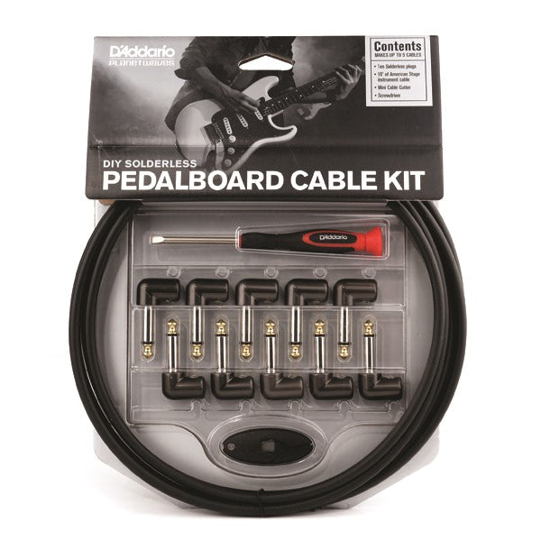 Planet Waves PW-GPKIT-10 DIY Solderless Custom Cable Kit, 10-Feet, 10-Plugs