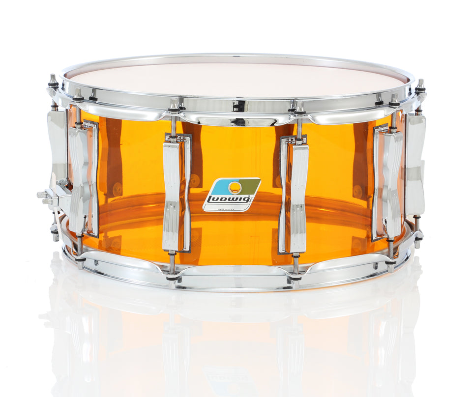 "Ludwig 14"" x 6.5"" Vistalite Snare Drum - Amber"