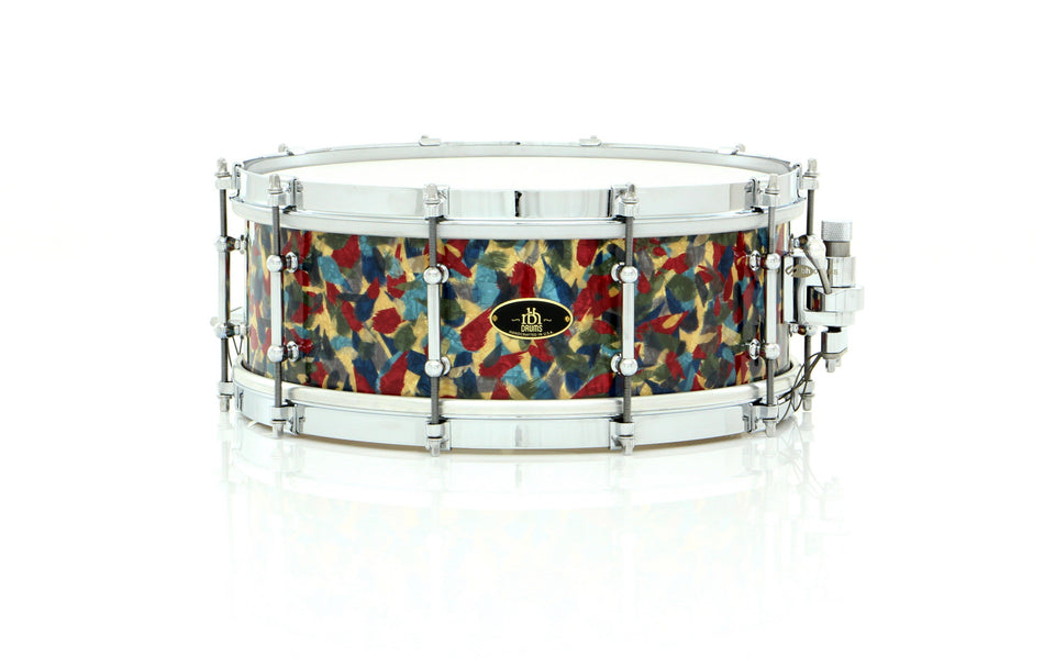 "RBH Drums 14"" x 5.5"" Monarch Snare Drum Peacock Pearl Wrap"