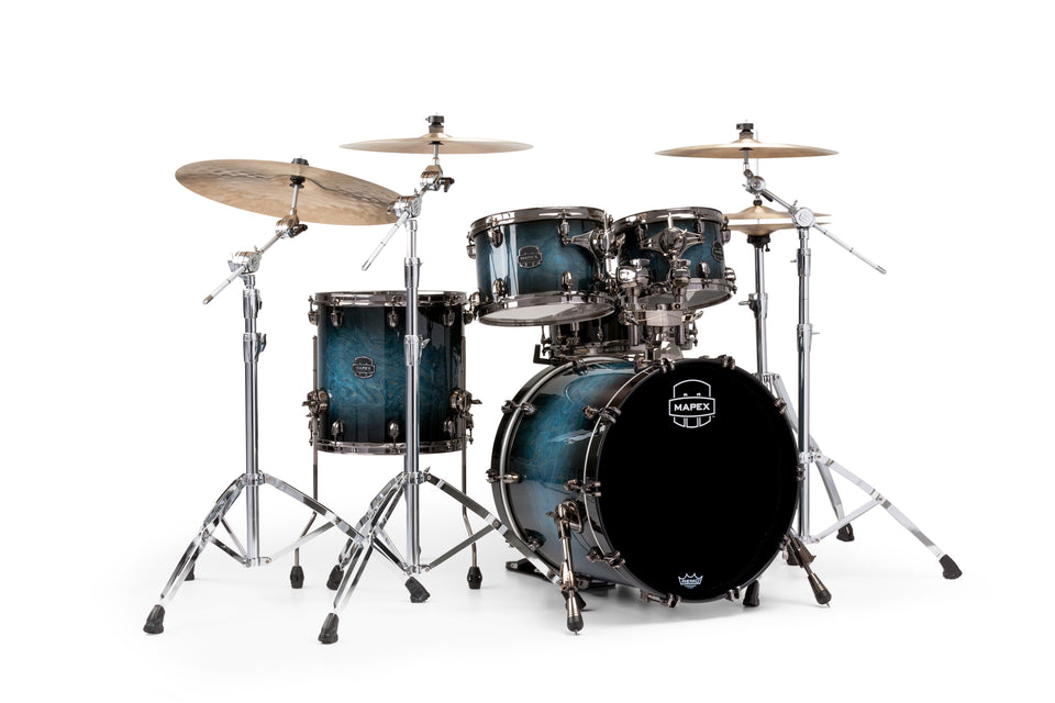 Mapex Saturn V MH Exotic Jazz 4 Piece Drum Set Shell Pack - Deep Water Maple Burl