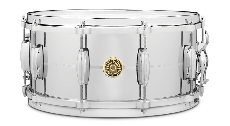 "Gretsch 14"" x 6.5"" Chrome Over Brass Snare Drum"