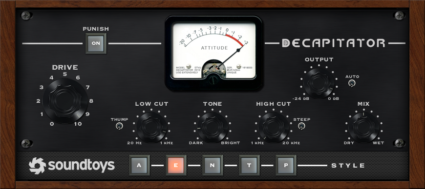 Soundtoys Decapitator Analog Saturation Modeler Plug-In
