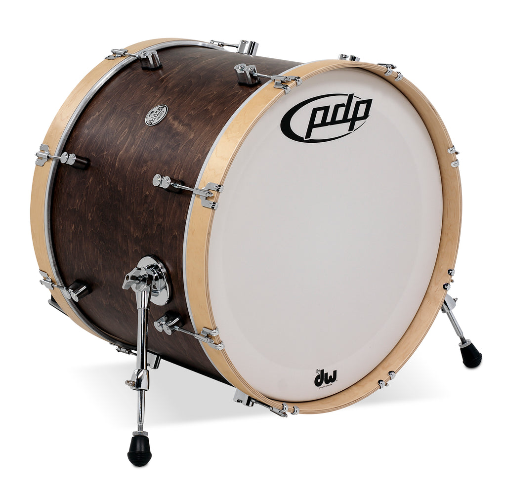 "PDP PDCC1622KKTN 22"" x 16"" Concept Maple Classic Bass Drum - Walnut / Natural"