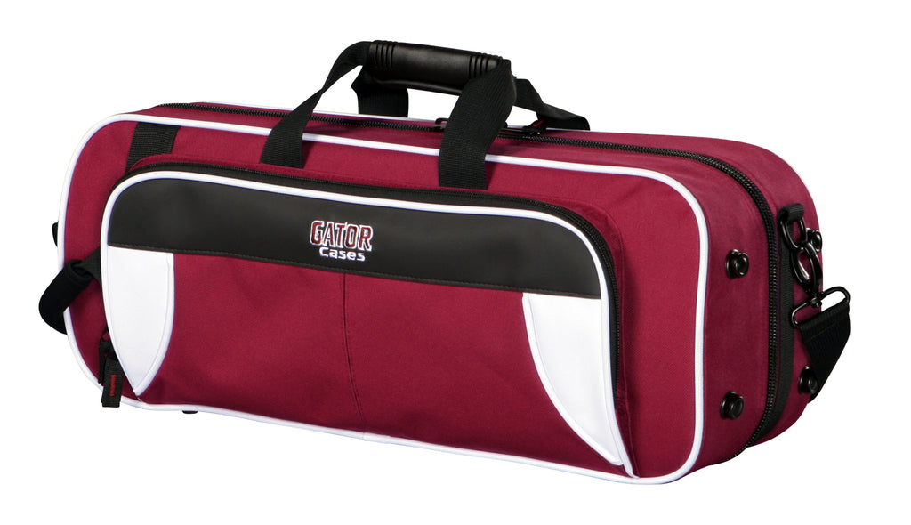 Gator GL-TRUMPET-WM Spirit Series Lightweight Trumpet Case, White And Maroon