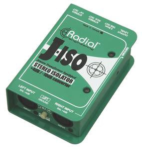 Radial Engineering J-ISO Stereo 4dB to -10dB Converter with Jensen Transformers