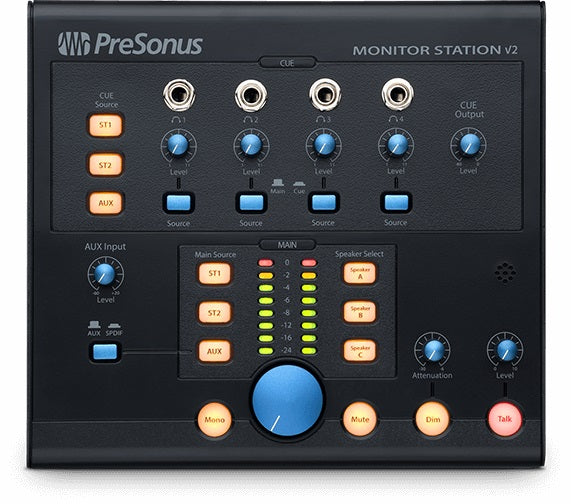 PreSonus Monitor Station v2 Desktop Studio Control Center W/ SPDIF Input