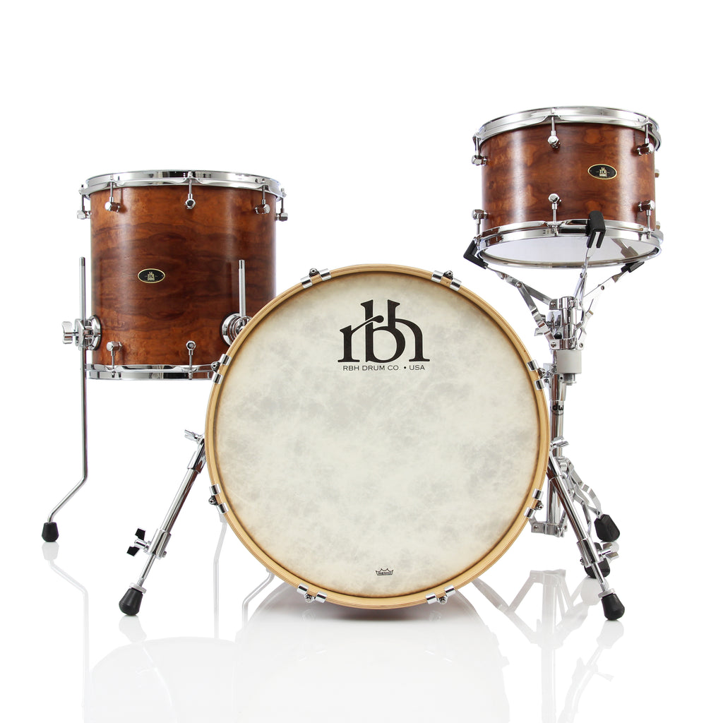RBH Drums Monarch 3 Piece Drum Set Shell Pack - Makore