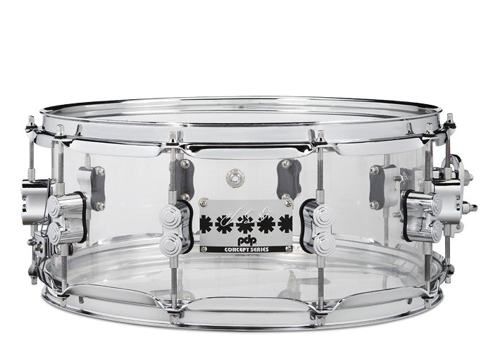 "PDP Chad Smith 14"" x 6"" Snare - Clear Acrylic"