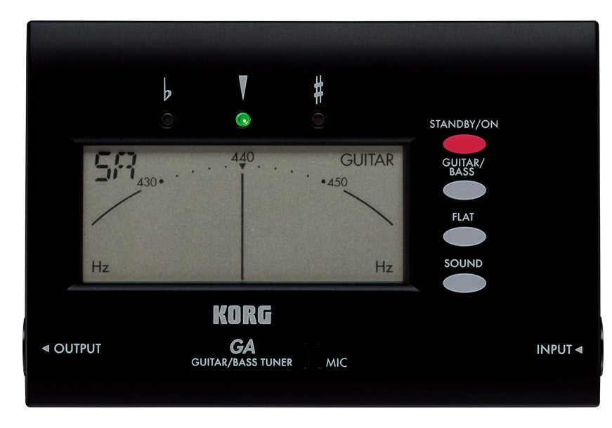 Korg GA-40 Compact Guitar and Bass Tuner